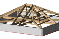 3d analysis of timber roof frame