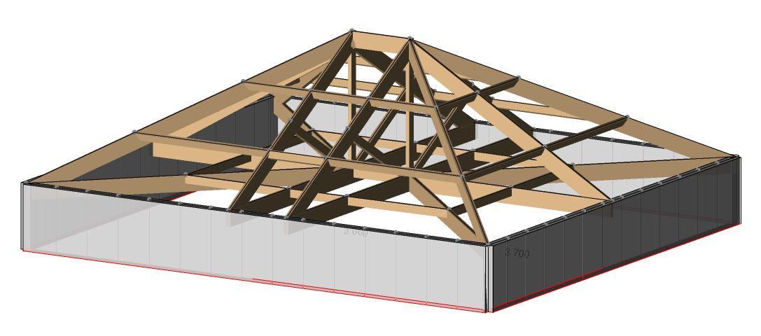 3d Analysis Of Church Roof Davies Torres Design Ltd