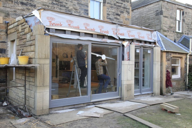 New Garden Room Extension In Edinburgh Nearing Completion