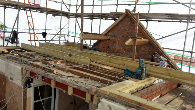 New joists and alterations to the roof